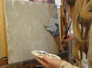 Peinture à fresque. Giornata